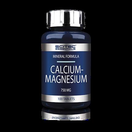 Calcium-Magnesium Scitec Nutrition 100 tabs, фото 2