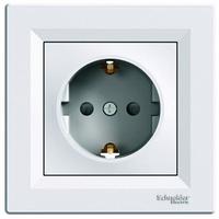 Розетка с заземлением белая  Schneider Electric Asfora EPH2900121