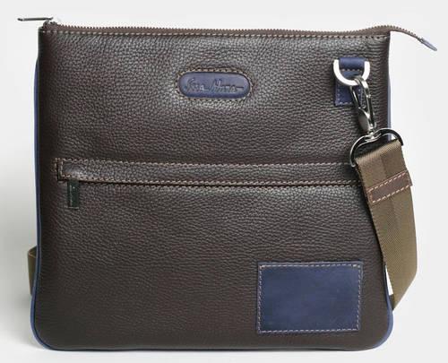 Интересная мобильная мужская сумка через плечо, кожаная ISSA HARA В9-05 (12-33)