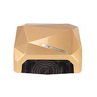 Сенсорная УФ + лед лампа CCFL+Led 36W золотая, фото 1