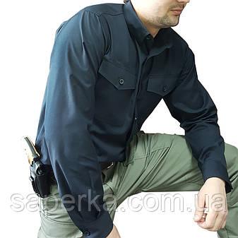 Рубашка тактическая милитари черная, фото 2
