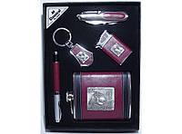 Набор фляга + нож + зажигалка + ручка + брелок NFEE259, фляга для алкоголя, подарочный набор для мужчины