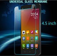"""4.5"""" Универсальное защитное стекло с закругленными краями Veron (2.5D)"""