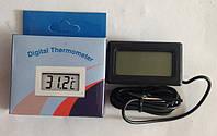 Термометр цифровой с выносным датчиком WSD10 (черный)