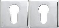 Розетка Convex 50х50 PZ матовый хром