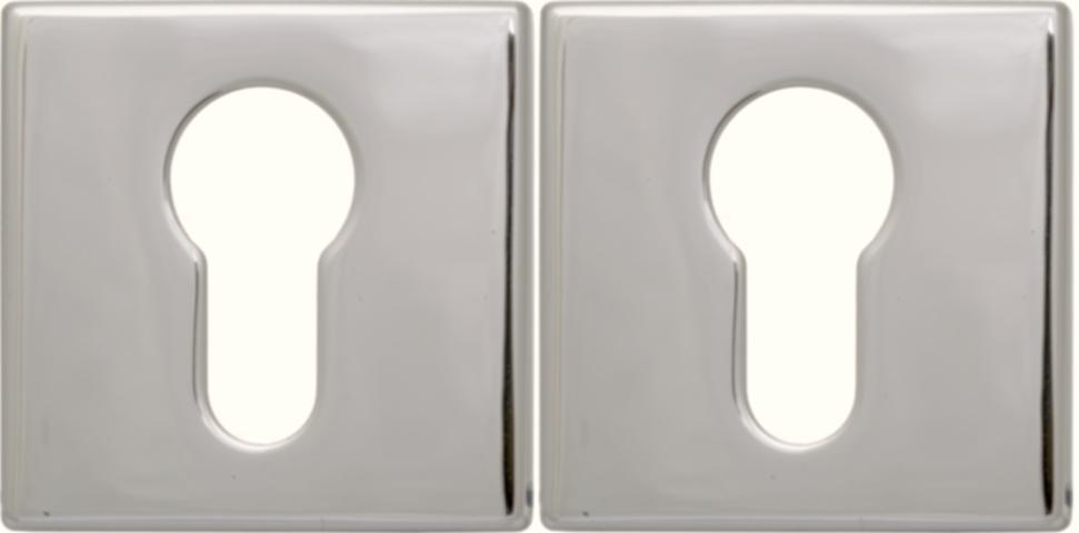Розетка Convex 50х50 PZ матовый никель