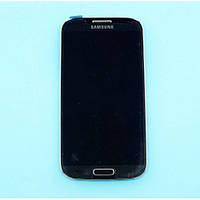 Дисплей Samsung I9505 (сенсор, с передней панелью, камерой и разъемом питания) Original Blue