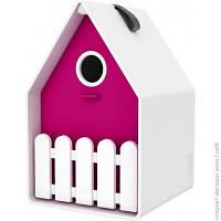 Скворечник Emsa Landhaus 15x24см, белый/розовый (EM514125)