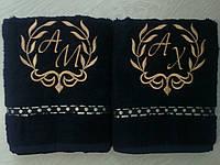 Полотенце с вышивкой Инициалы (50*90 для лица)