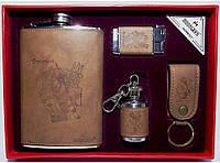 Подарочный набор с флягой NFMTE-39, подарочная фляга для алкоголя, стильный набор для мужчин