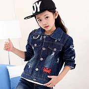 Детская джинсовая одежда на девочек оптом