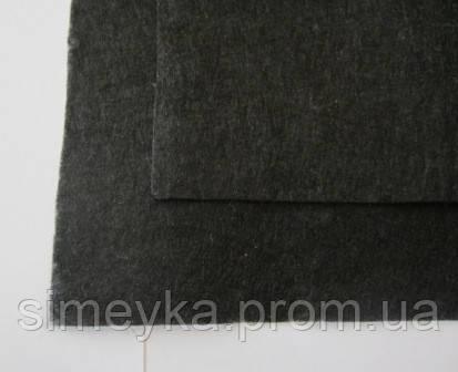 Фетр для рукоделия листовой, 1 лист 40*50 см, жёсткий, толщина 1 мм; чёрный
