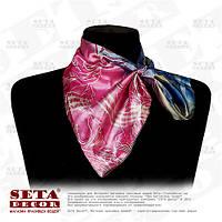 """Шейный платок, шарф """"Трансформер"""" (Сиреневые листья)"""