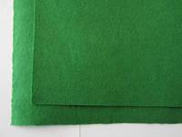 Фетр для рукоделия листовой, 1 лист 40*50 см, жёсткий, толщина 1 мм; зеленый