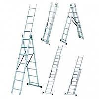 Лестница универсальная односторонняя WERK 3х8 ступени