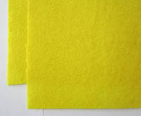 Ост. 1 лист!!! Фетр для рукоделия листовой, 1 лист 40*42 см, жёсткий, толщина 1 мм; желтый, фото 1