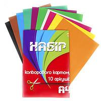 "Картон цветной ""Тетрада"" А4 10 л."