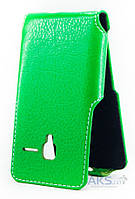 Чехол Status Side Flip Series Alcatel One Touch 4013d PIXI 3 Green