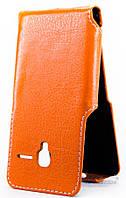 Чехол Status Side Flip Series Alcatel One Touch 4027d PIXI 3 Orange