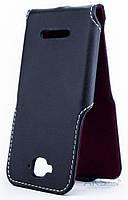 Чехол Status Side Flip Series Alcatel One Touch 7041d Pop C7 Black Matte
