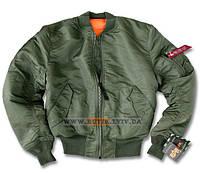 Летная куртка MA-1 Alpha Industries (оливковая)