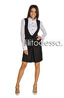 Платье в деловом стиле черный