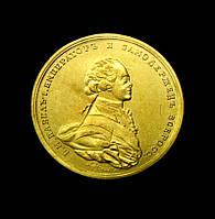 Памятный жетон Павел 1 1796 год золото №122а копия, фото 1