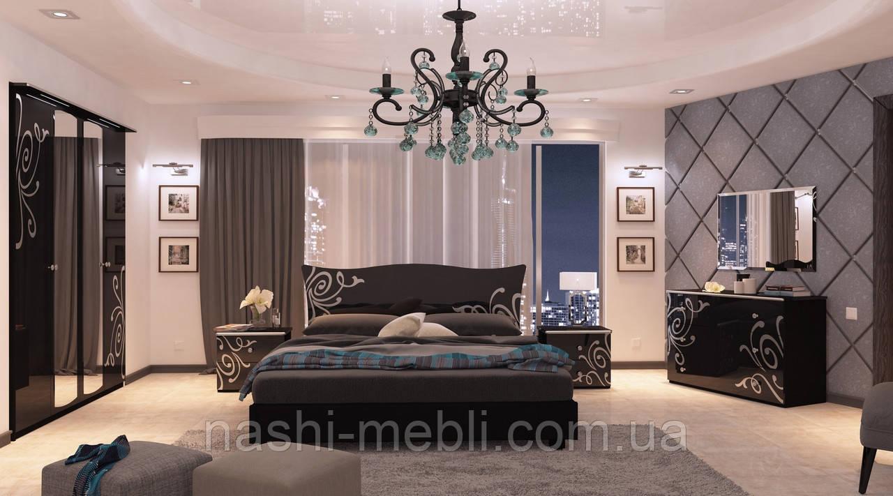 Спальня Богема Глянець Чорний