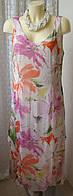 Платье летнее шелковое цветы Collection р.48 6708, фото 1