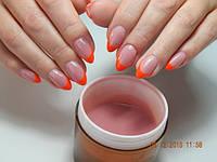 Гель для наращивания ногтей на разлив камуфляжный розовый