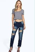 Рваные mom-джинсы  BooHoo, фото 1