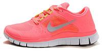 Женские кроссовки Nike Free Run 5.0 кораловые, найк фри ран, кроссовки для бега