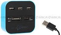 Универсальный ридер HUB внешний USB 2.0 LineComp