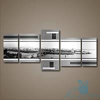 Модульная картина City-Grey из 5 фрагментов