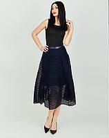 Женская стильная юбка Луиза черного цвета