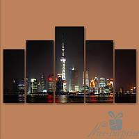 Модульная картина Большой город из 5 фрагментов