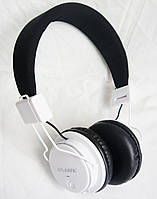 Беспроводные bluetooth наушники Atlanfa AT-7611A + FM +MP3 плеер, белые