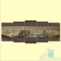 Модульная картина Вечерняя дымка из 5 фрагментов, фото 1