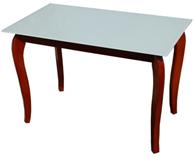 """Стеклянный стол на деревянных ножках """"Император Рэдвуд Вайт"""""""