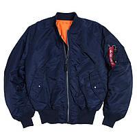 Лётная куртка MA-1 Flight Jacket Alpha Industries, США (синяя)