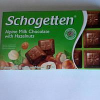 Шоколад Молочный Альпийский с лесными орехами Schogetten 100г