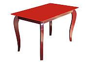 """Стеклянный стол на деревянных ножках """"Император Рэдвуд Ред"""""""