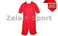 Форма футбольная без номера (красный)