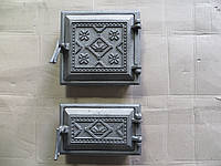 Дверка чугунна топочна, піддувальна комплект Вишиванка