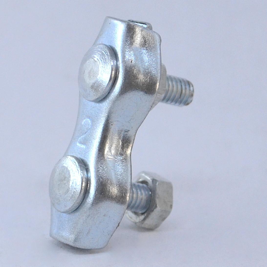 Зажим 2 мм  двойной *дюплекс* (затискач подвійний), Цинк