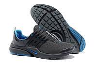 """Кроссовки Nike Air Presto 2 Carving """"Black Blue"""" - """"Черные Синие"""" (Копия ААА+), фото 1"""