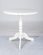 Стол кофейный деревянный с круглой столешницей Одиссей Микс мебель, цвет белый / ваниль