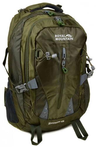 Отличный туристический рюкзак 45 л. Royal Mountain 8437 dark-green темный зеленый