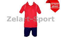 Форма футбольна без номера (червоно-синій)