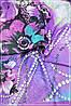 Парео женское в растяжке фиолетового цвета